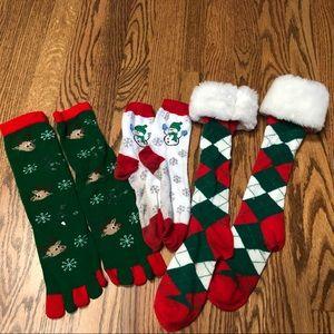 Lot of 3 Holiday Socks